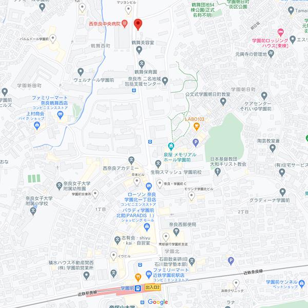 チャームスイート奈良学園前マップ